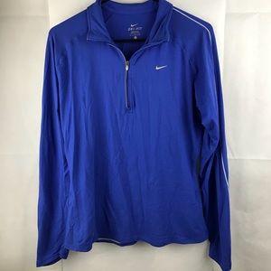 Nike dri fit quarter zip track jacket